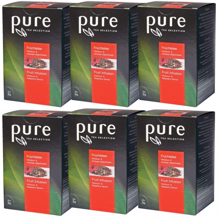 Pure Tea Selection Früchtetee Himbeere Hibiskus 25 x 2,5g