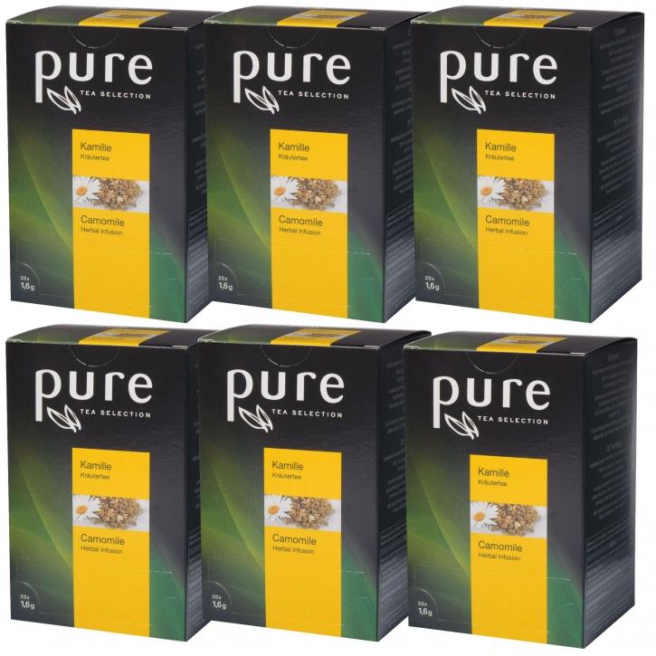 6 x Pure Tea Selection Kamille 20 Portionen