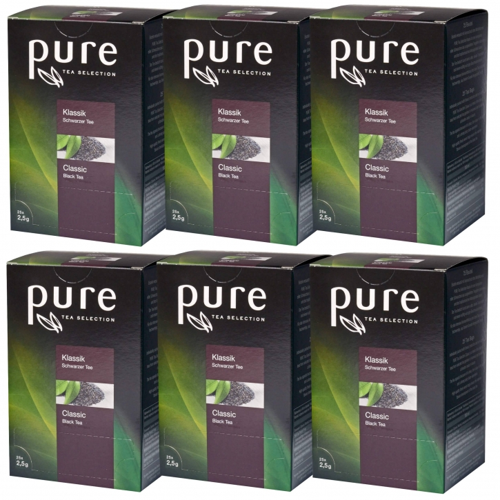 6 x Pure Tea Selection Klassik 25 Portionen