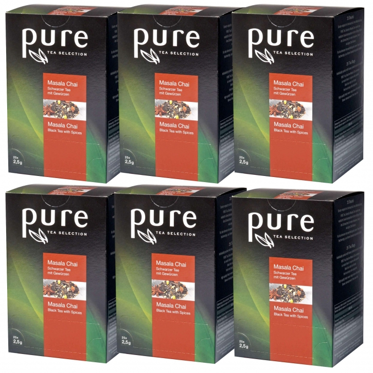 Pure Tea Selection Masala Chai Tee 6 x 25 Portionen