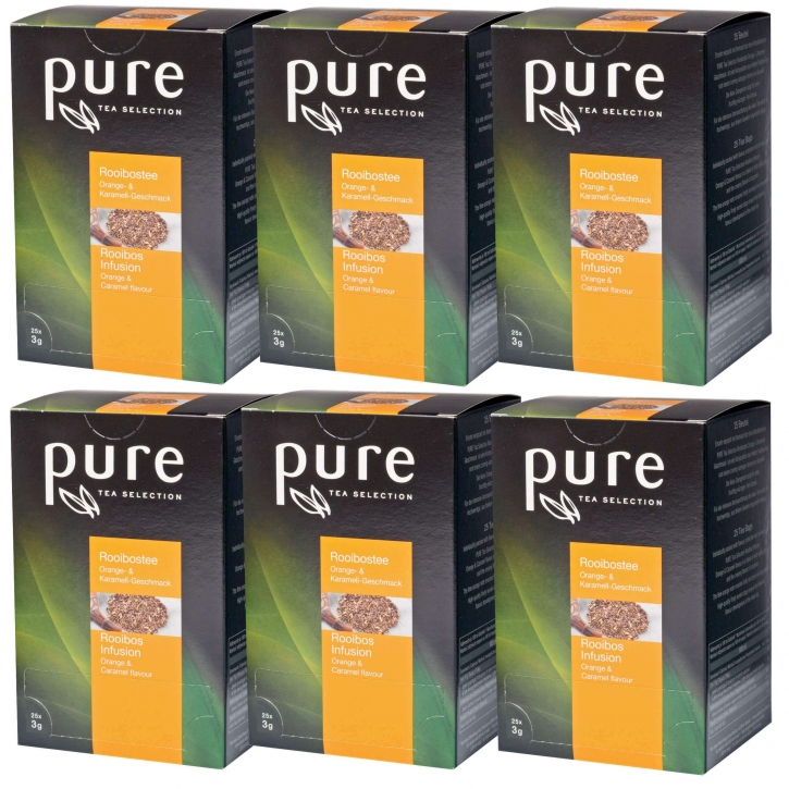 6 x Pure Tea Rooibos-Orange-Karamell 25 Portionen