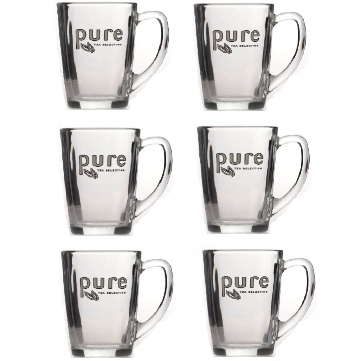 6 x Teegläser Pure Tea 340ml mit Logo Pure Tea Selection