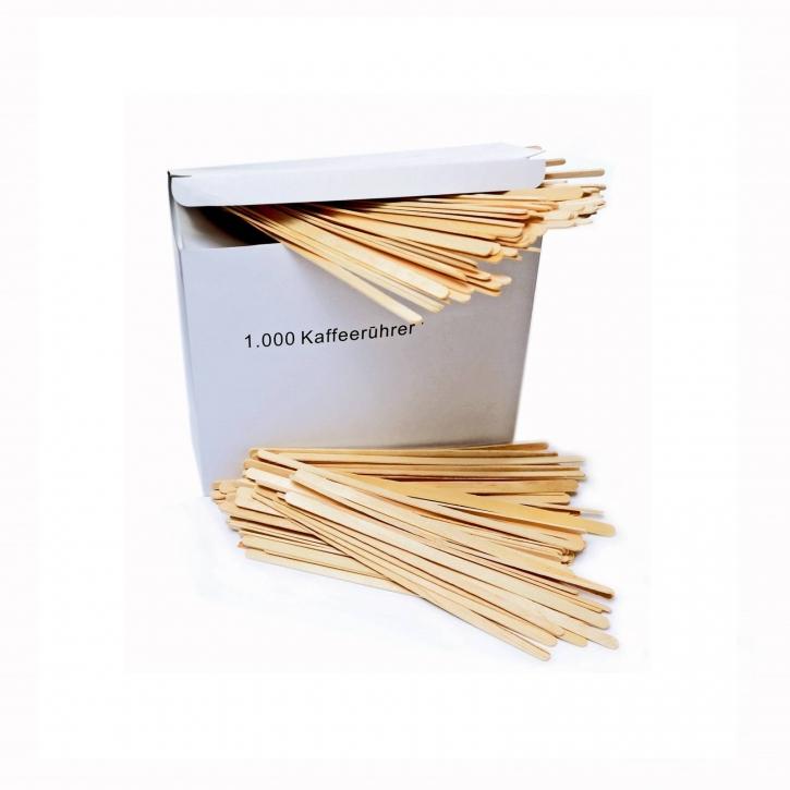 Rührstäbchen Holz 14 cm, Kompostierbar 1000 Stück