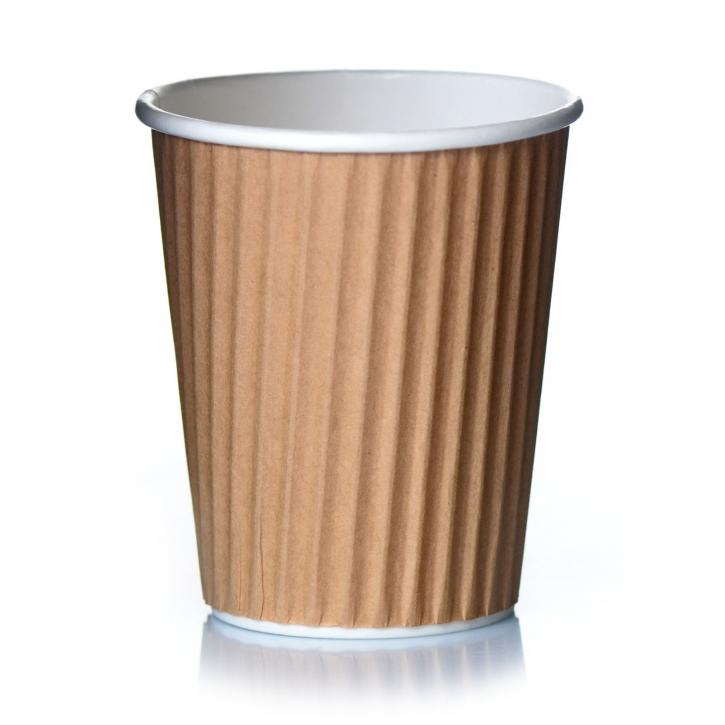 Ripple Cups Beige 14oz Doppelwand Draf 50 Coffee to go Becher