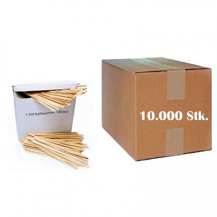 Rührstäbchen Holz 14 cm, Kompostierbar 10 x 1000 Stück