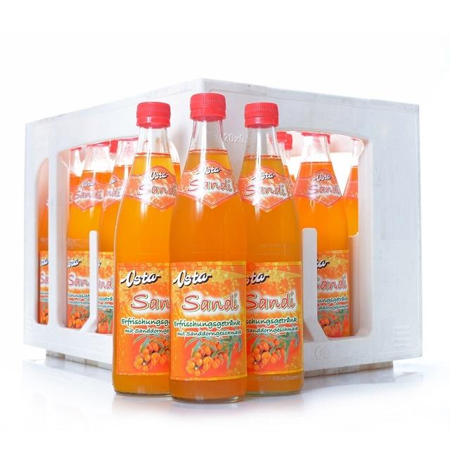 Osta Sandi Sanddorn-Limonade 0,5l Sanddorn-Brause 20 Flaschen