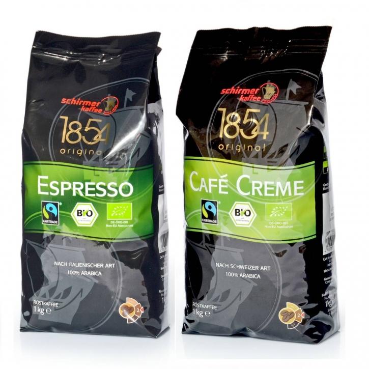 Schirmer Transfair Bio Café 1kg Espresso + 1kg Cafe Creme