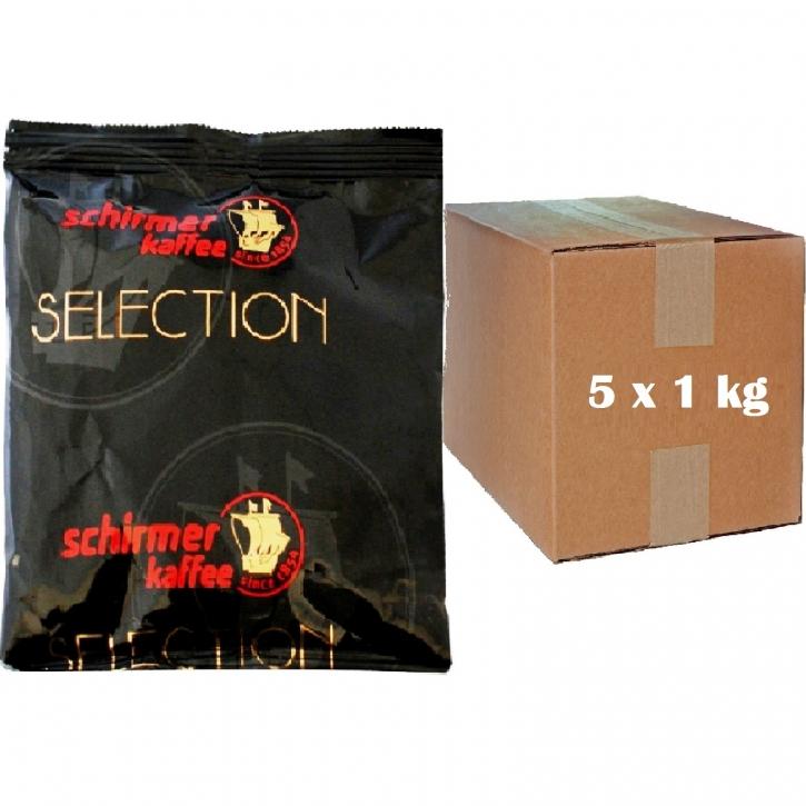 Schirmer Kaffee Jubiläum Arabica 5 x 1kg Kaffee gemahlen