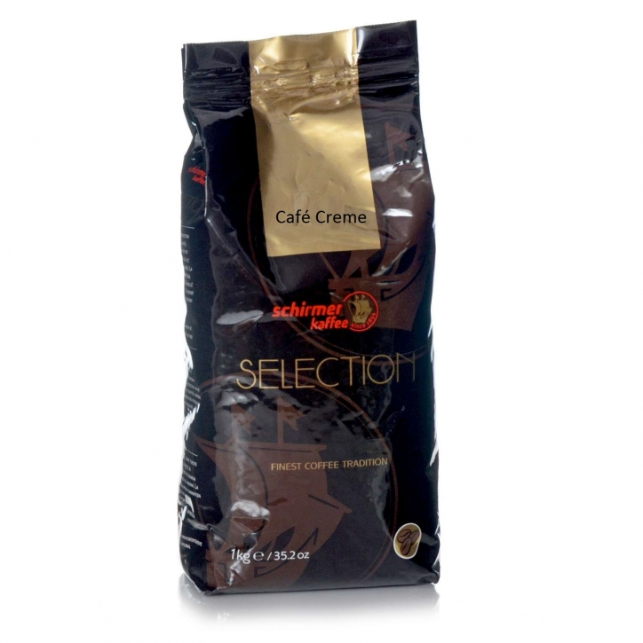 Schirmer Kaffee Schirmer Selection Café Creme, 8 x 1Kg ganze Kaffee-Bohne