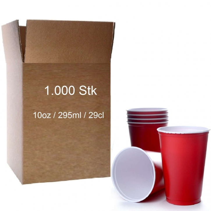 Solo Cups 10oz Beer Pong American Cup USA 1000 x 295ml