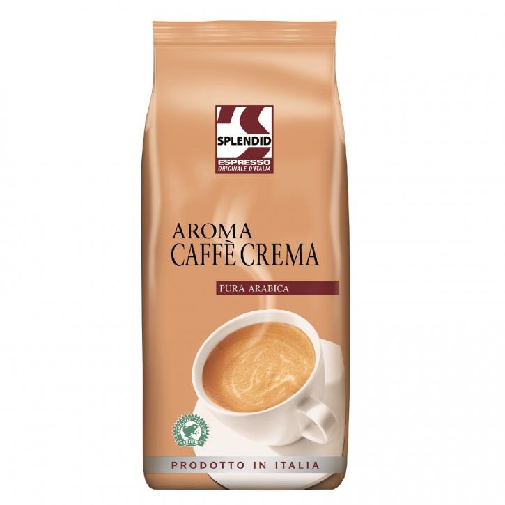 Splendid Aroma Cafe Crema 100% Arabica Kaffeebohnen 1 Kg