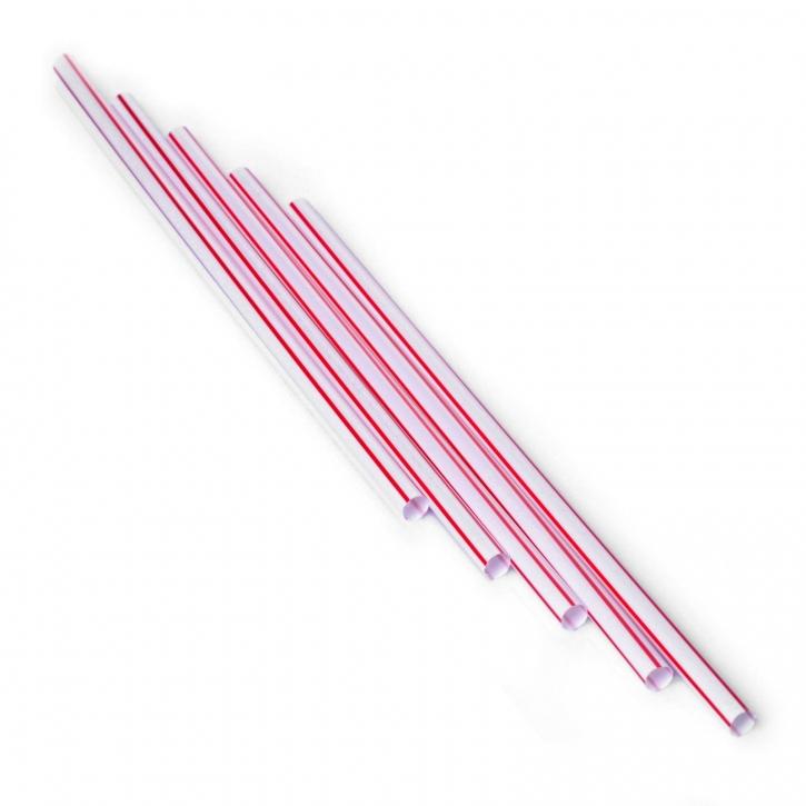 Strohhalme Trinkhalme gerade rot weiss 6x210mm 500Stk