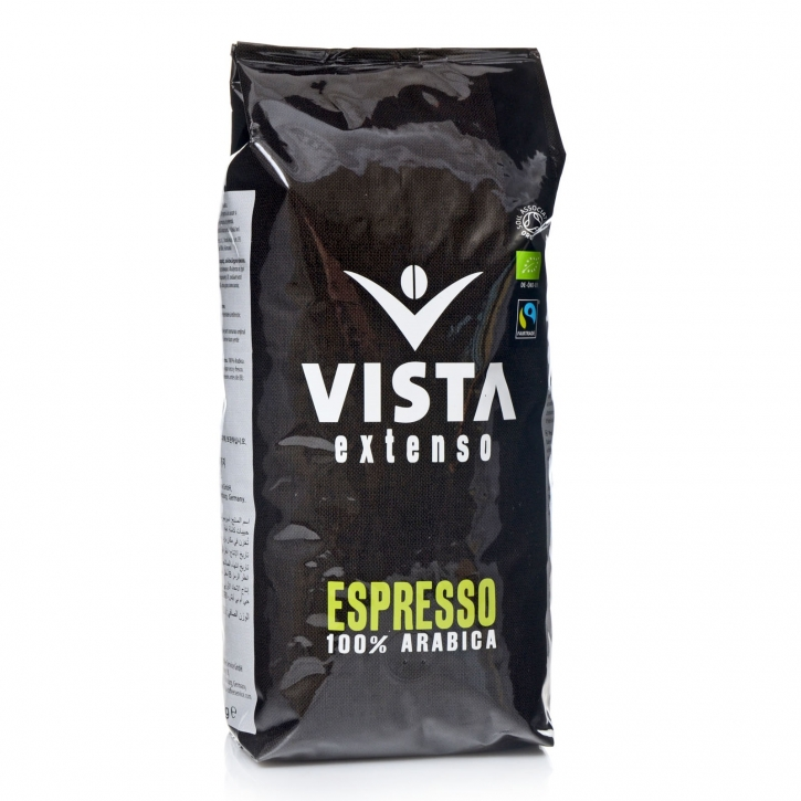 Tchibo Vista Espresso 6 x 1Kg ganze Bohne, 100% Arabica, Bio, Fairtrade