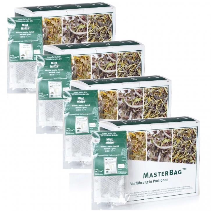 Kräutertee Minze - Mint Bio MasterBag 25 Glas-Portion 1,4g, 6er Pack