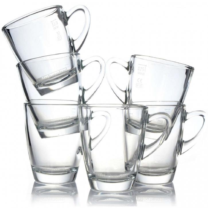 Tee Gschwendner 6 Teegläser 320 ml Tee - Glas mit Henkel