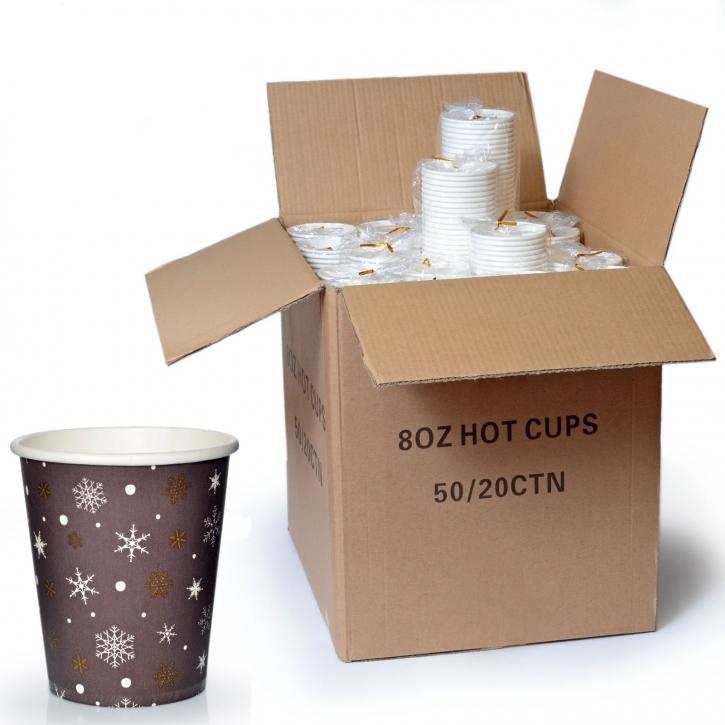 Coffee to go Becher 24cl Pappbecher Design Kristalle 1000 Stk