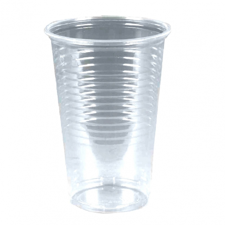 Ausschankbecher 0,2l transparent 100 Plastikbecher 21cl