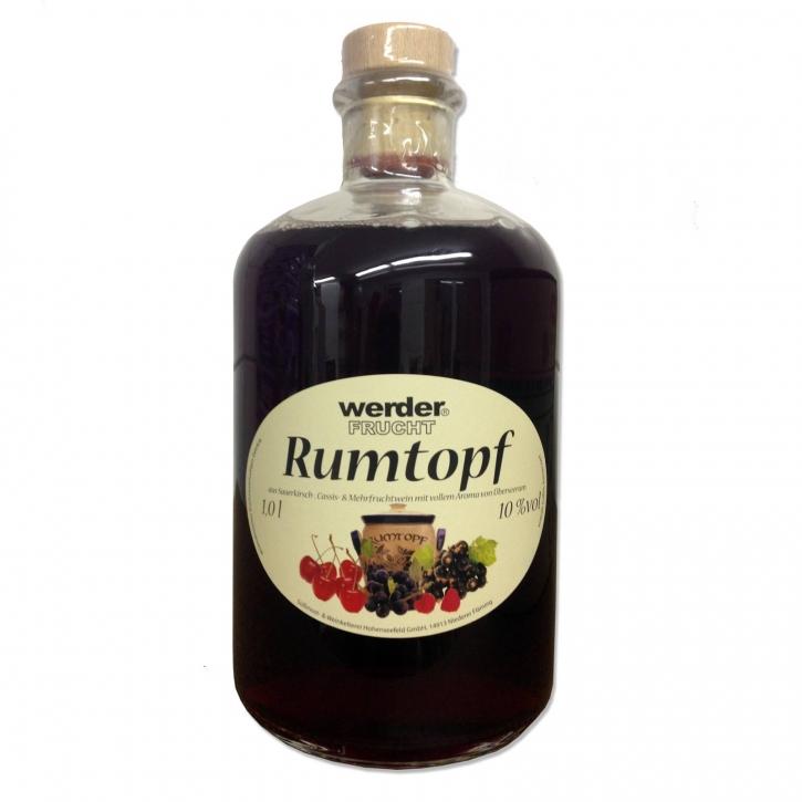 Rumtopf 1 Ltr. Apothekerflasche 10% vol.