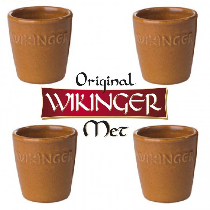 Wikinger Met Becher Tonkrug 0,1l Tonbecher