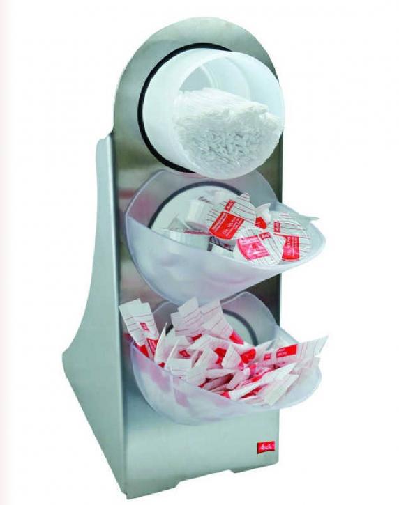 Zucker - Kaffesahne - Rührstäbchen - Spender