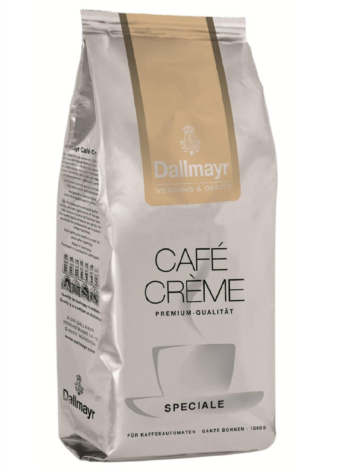8 x dallmayr cafe creme speciale 1kg f r kaffeeautomaten kaffee ganze bohnen. Black Bedroom Furniture Sets. Home Design Ideas