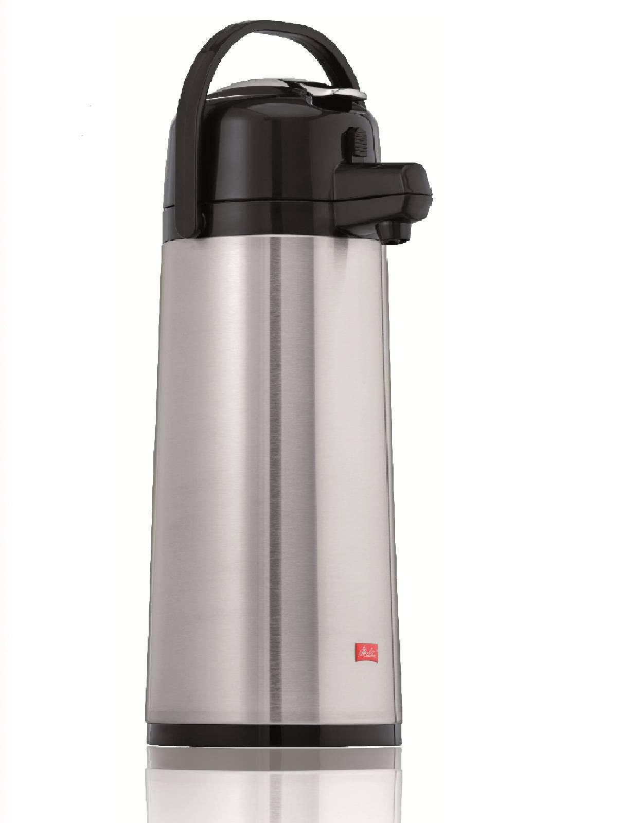 Melitta Thermoskanne Pumpkanne M 170 MT 2,2 L Airpotkanne mit Edelstahlkolben