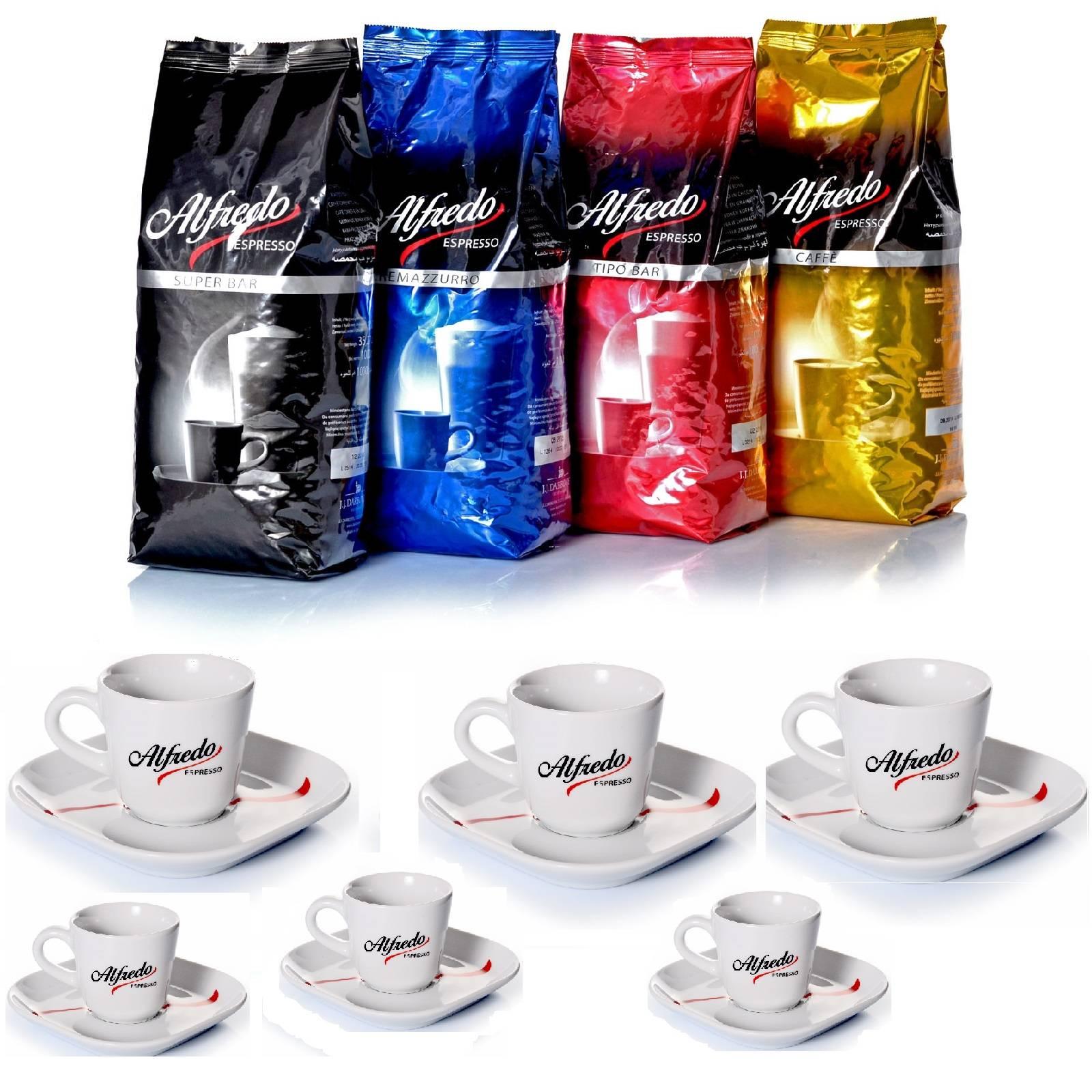 Darboven Alfredo Espresso Kaffeetest Ganze Bohne Inkl 6 Ober Und