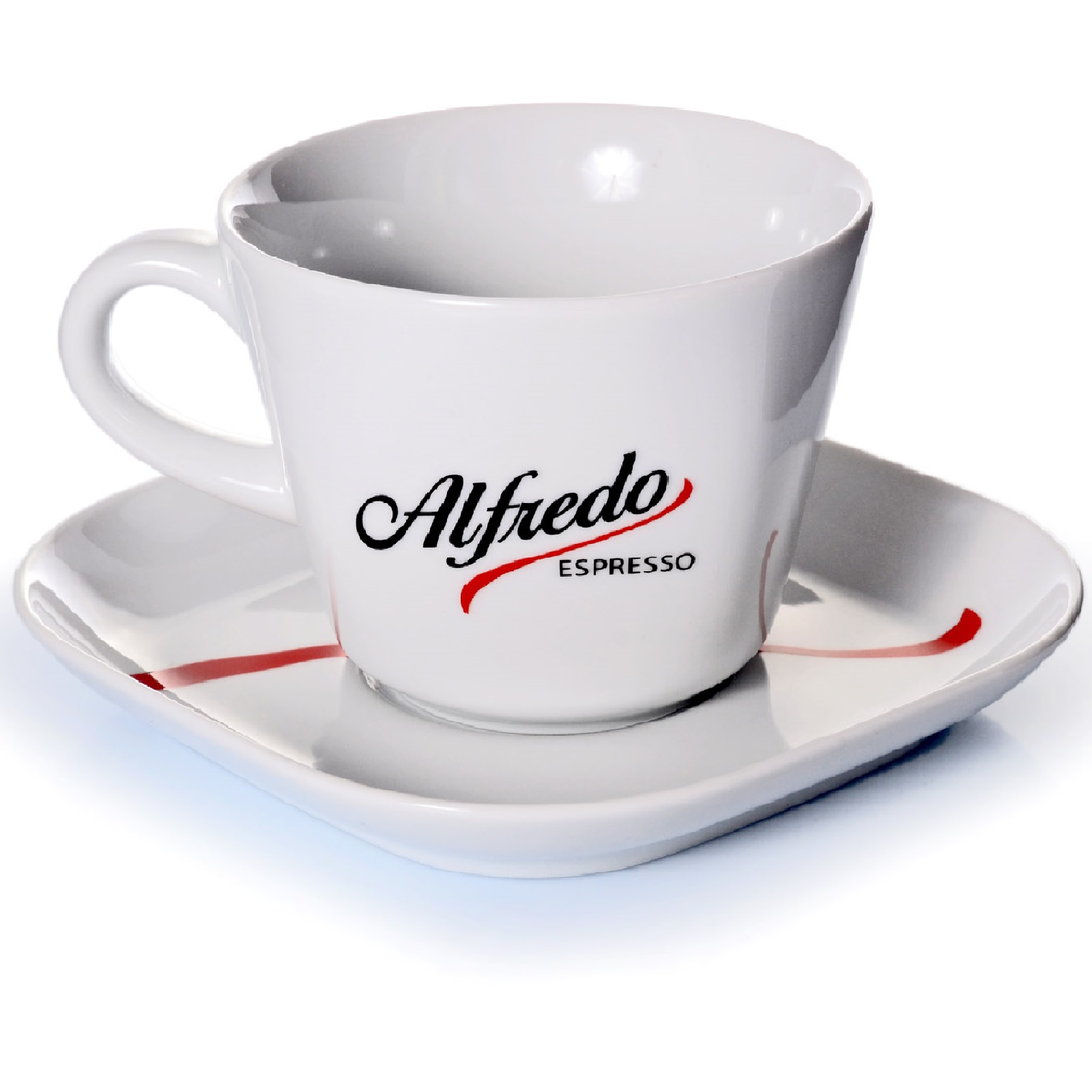 alfredo espresso geschirr 2 teilig milchkaffee tassse mit untertasse 0 30 l ebay. Black Bedroom Furniture Sets. Home Design Ideas