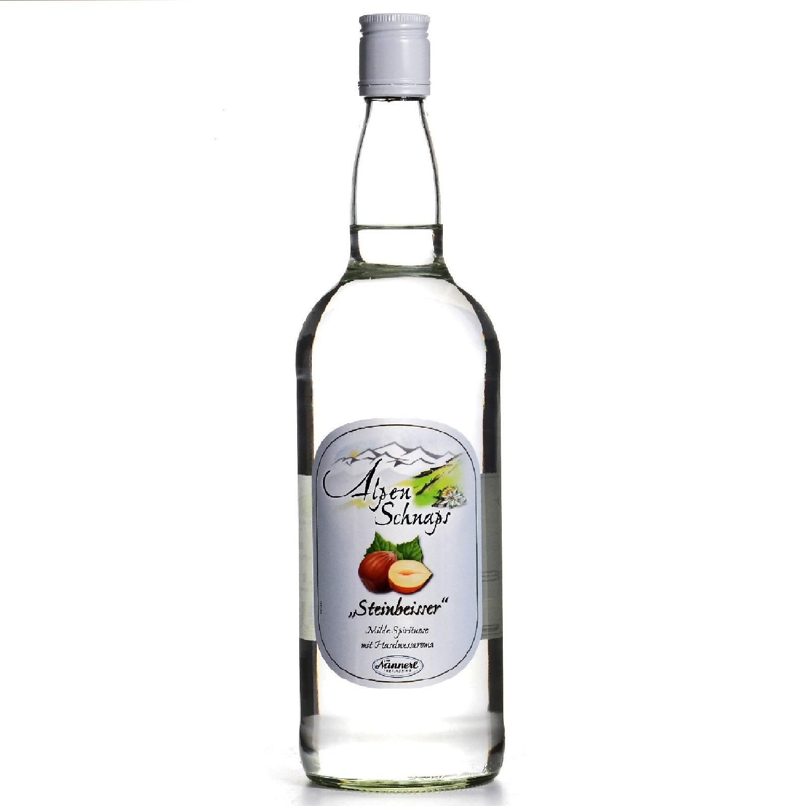 Alpenschnaps Steinbeisser Haselnuss 1 Liter 33% Vol. Nussbrand