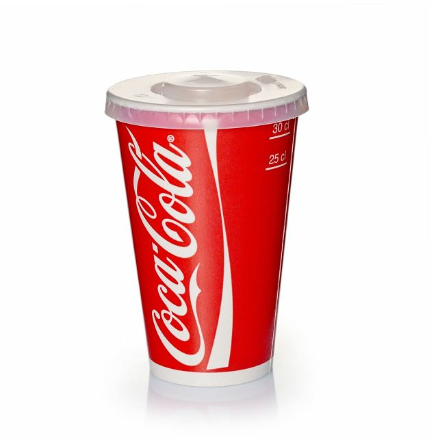 Coca Cola Pappbecher 0,3l - 300ml Kaltgetränke 100 Stk
