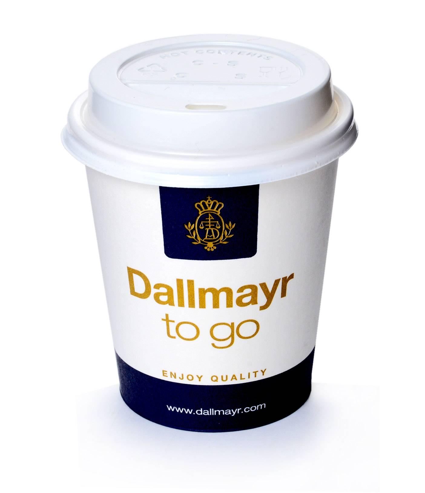 dallmayr coffee to go becher 0 2l mit deckel weiss 200 stk. Black Bedroom Furniture Sets. Home Design Ideas