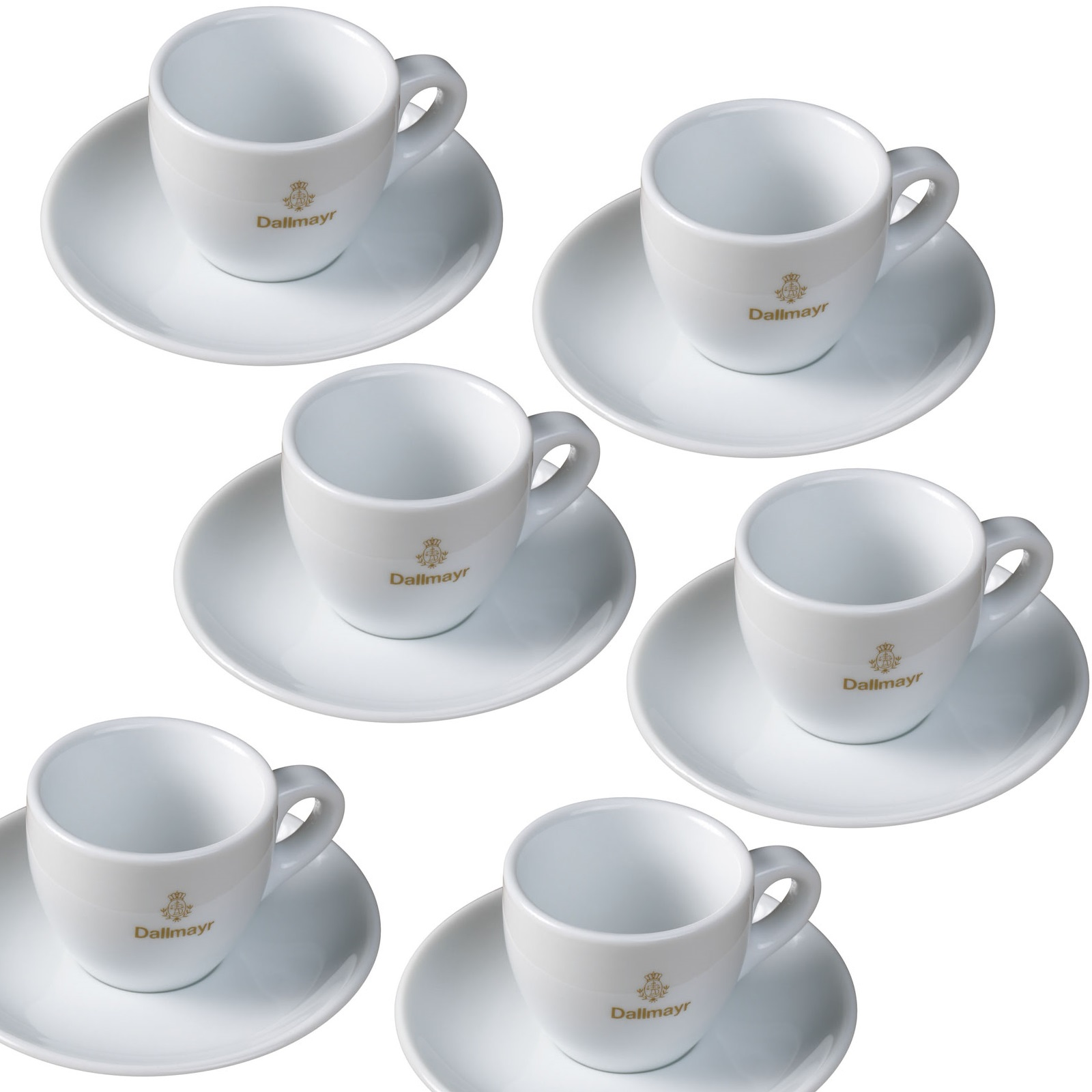 dallmayr espresso tasse inklusive untertasse 6er set bestehend aus espressotasse 0 08l mit. Black Bedroom Furniture Sets. Home Design Ideas