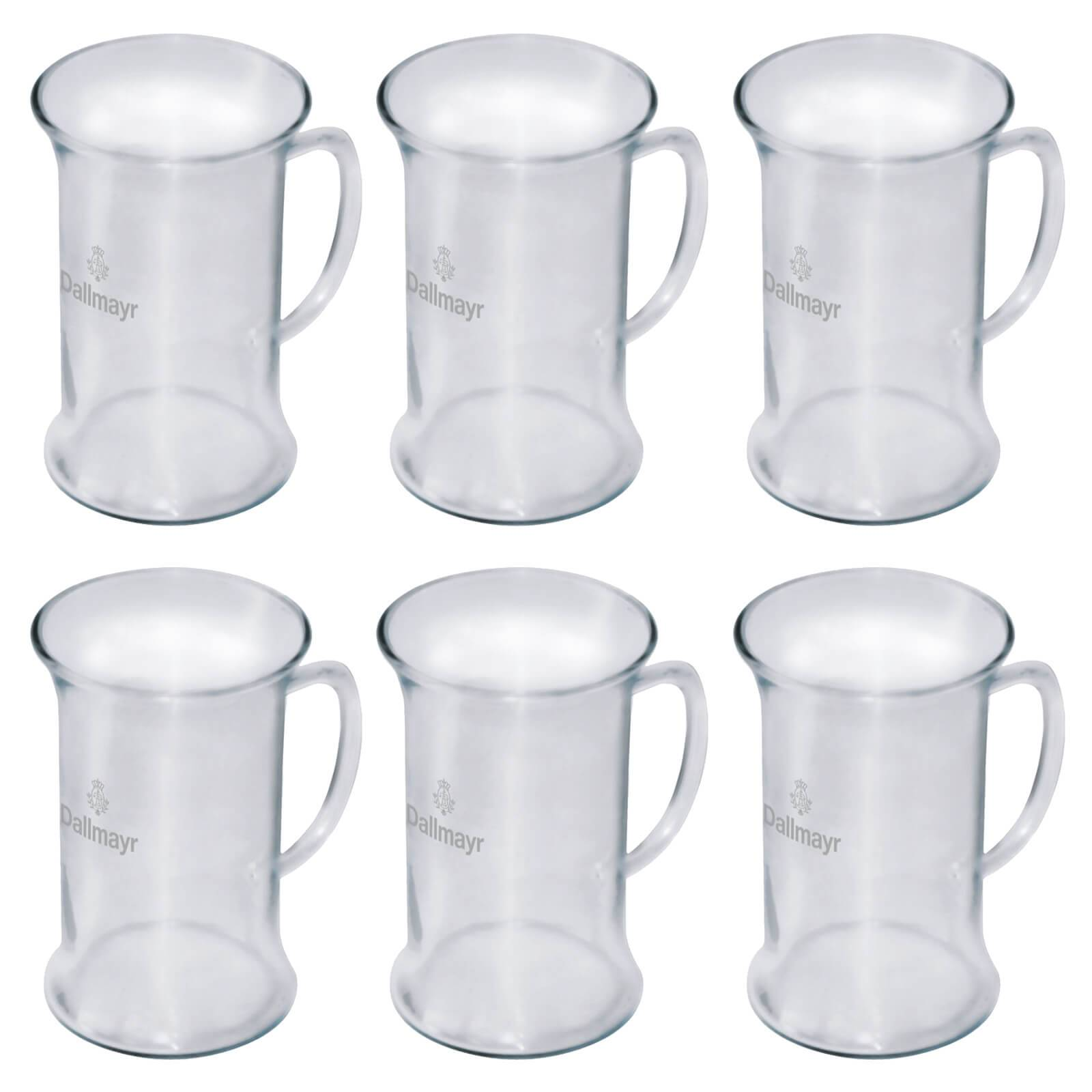 dallmayr teegl ser aufgu beutel 6 gl ser mit logo teeglas 250 ml tee glas 0 25 l ebay. Black Bedroom Furniture Sets. Home Design Ideas