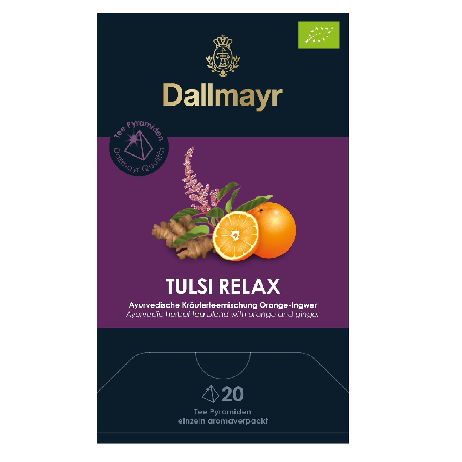 dallmayr tulsi relax bio ingwer orange 20 pyramiden x 2 5g. Black Bedroom Furniture Sets. Home Design Ideas