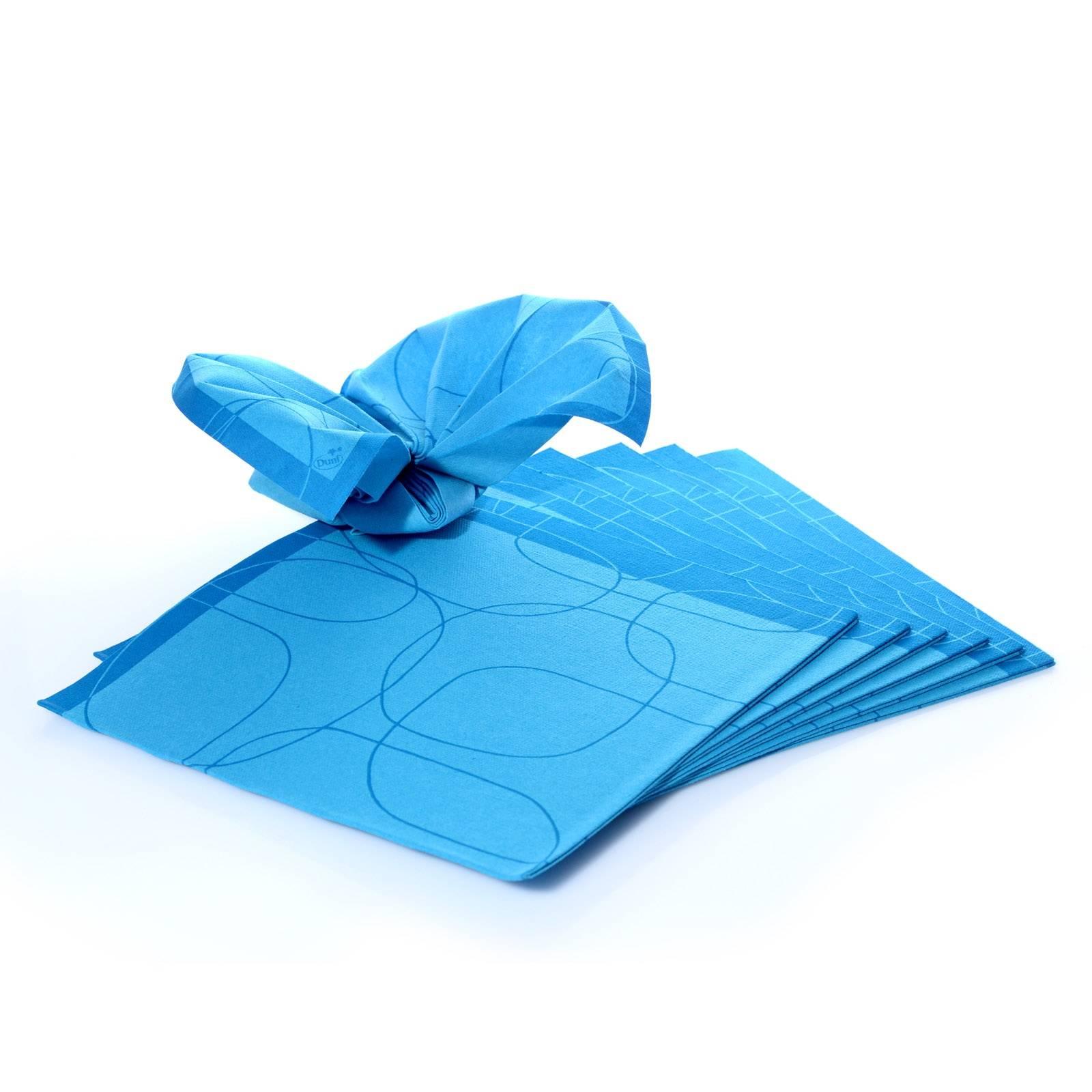 duni servietten 1 4 falz blau muster 40 x 40 cm dunilin 15 stk. Black Bedroom Furniture Sets. Home Design Ideas