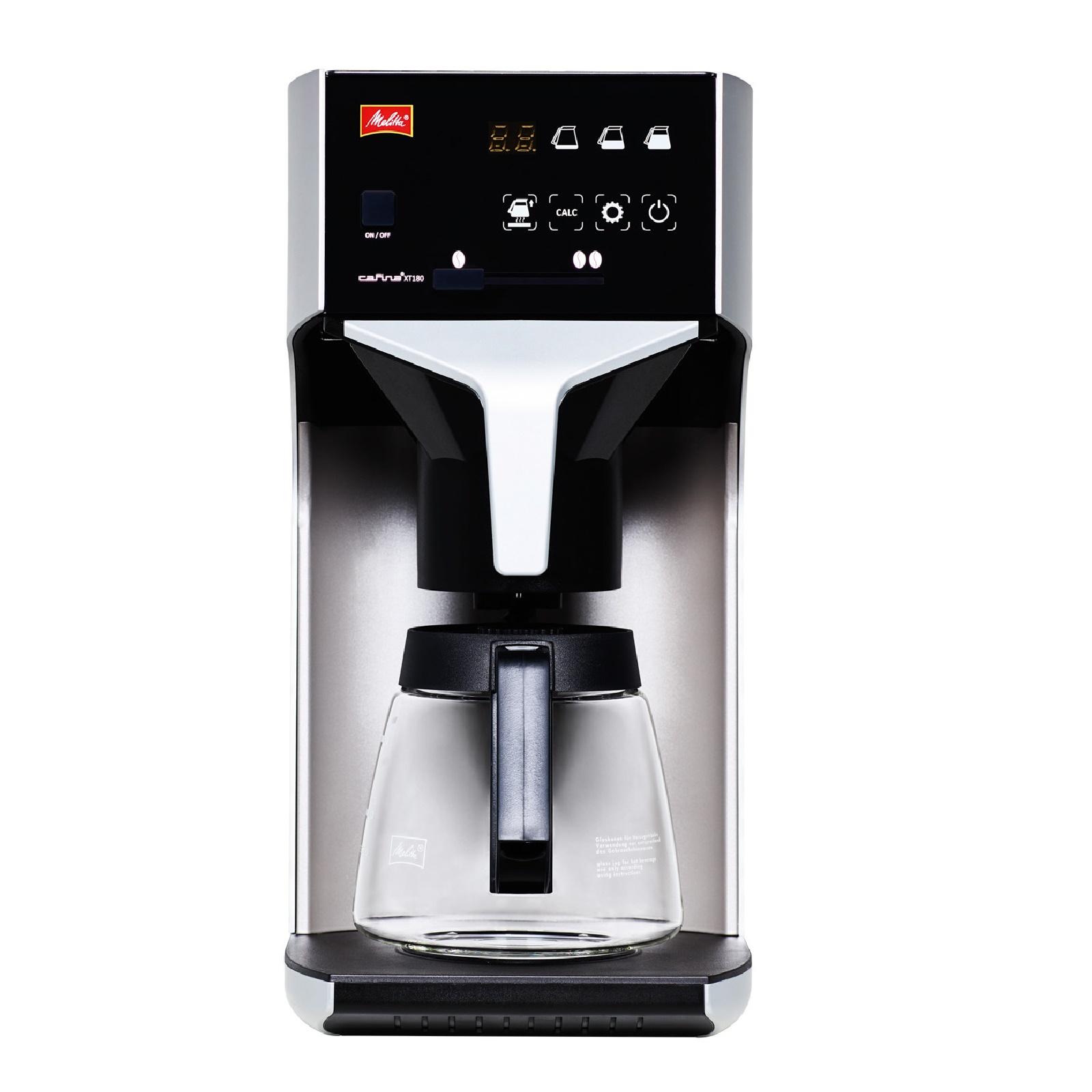melitta cafina xt180 gmc kaffeemaschine o festwasseranschluss mit glaskanne. Black Bedroom Furniture Sets. Home Design Ideas