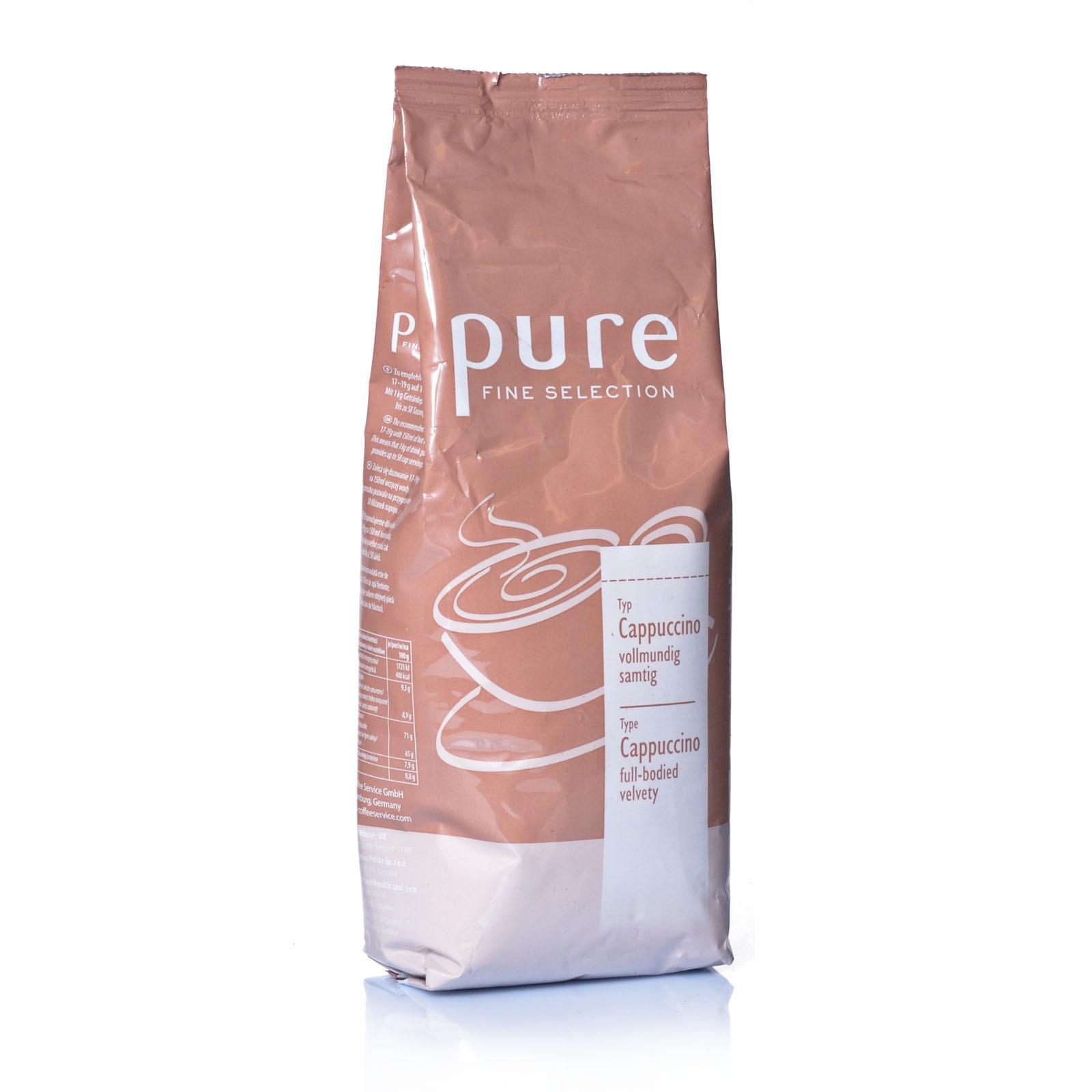 tchibo pure fine selection cappuccino topping crema macht lecker milchkaffee oder latte macchiato. Black Bedroom Furniture Sets. Home Design Ideas