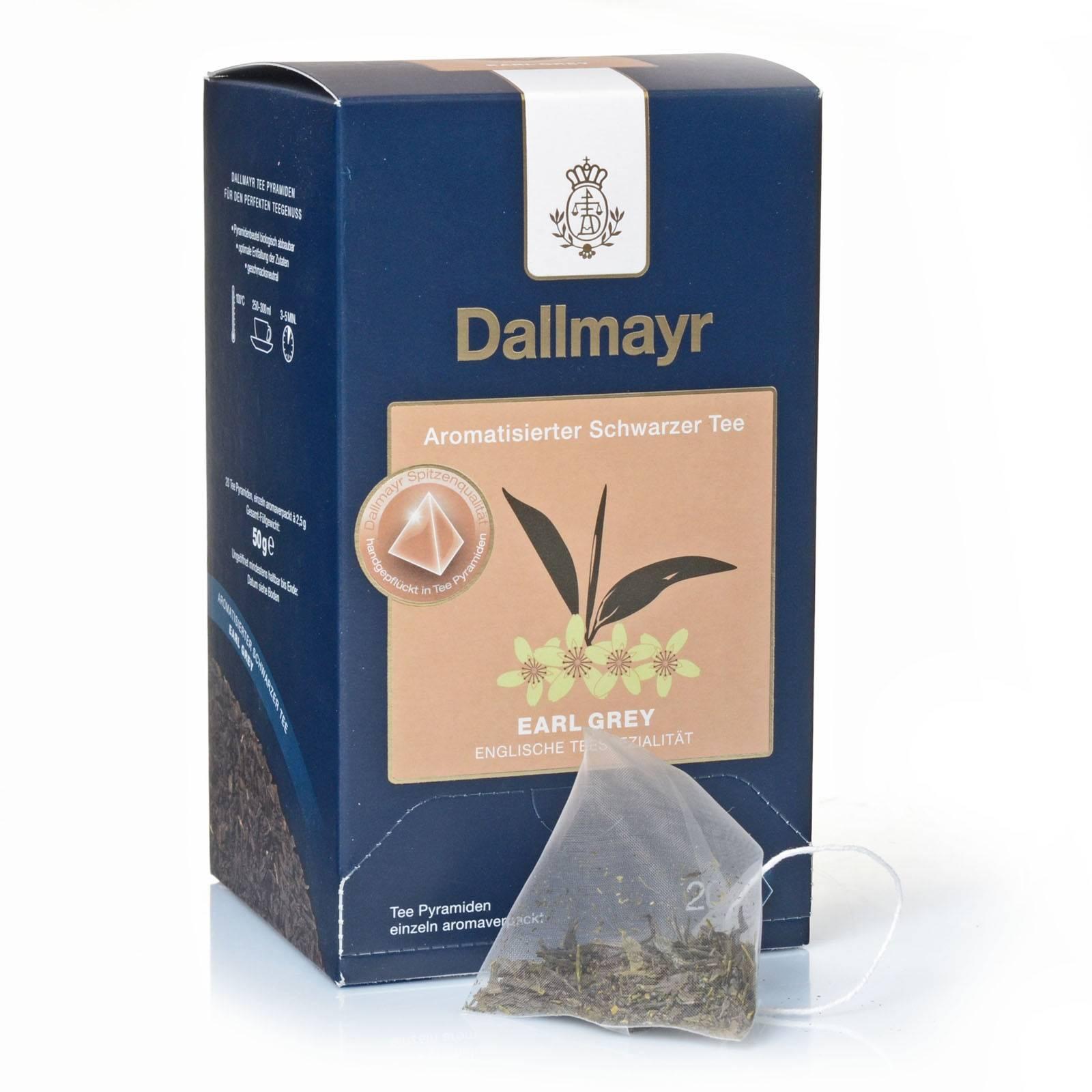 dallmayr earl grey tee pyramiden 20 x 25g aromatisierter schwarztee ebay. Black Bedroom Furniture Sets. Home Design Ideas