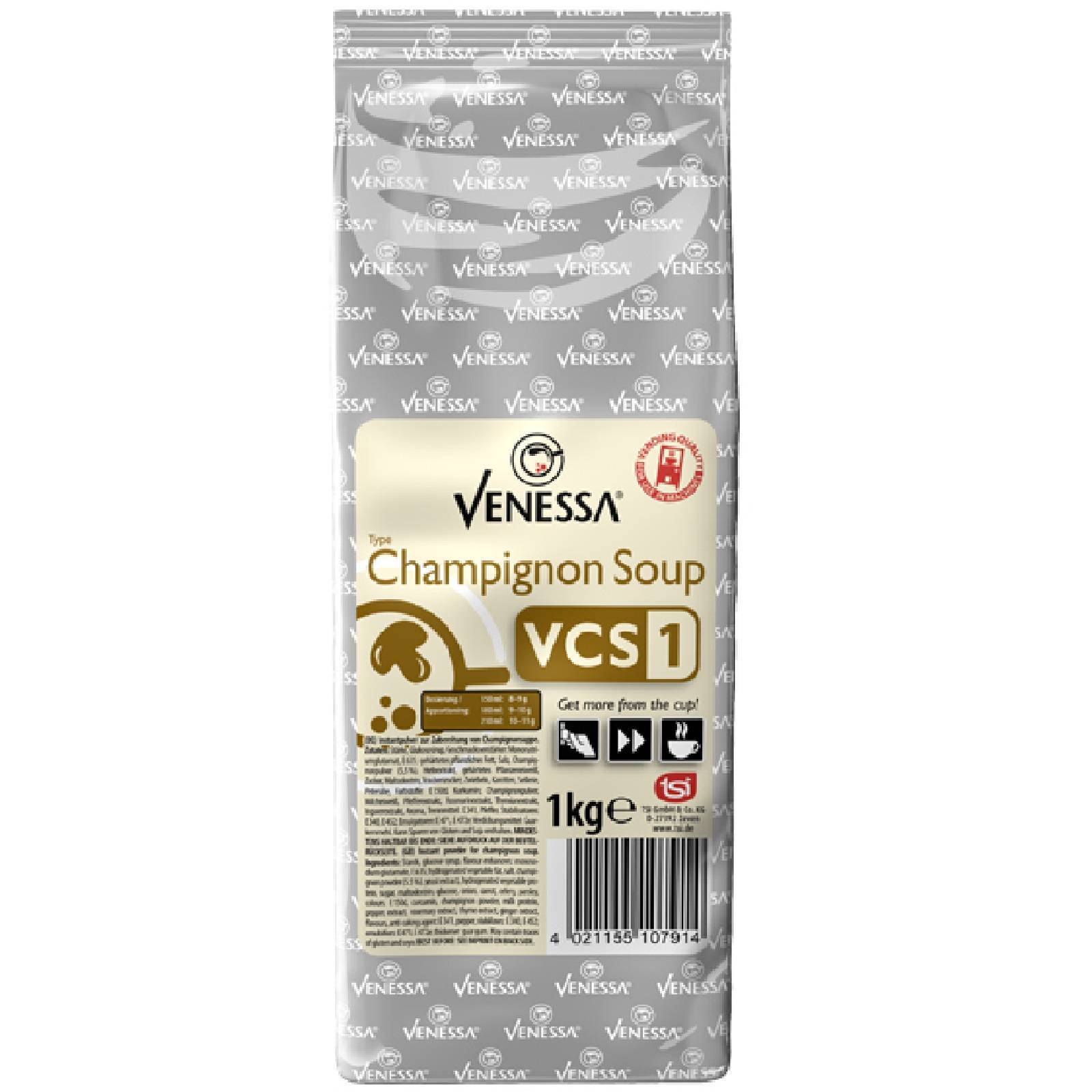 venessa champignon soup vcs1 cremesuppe 1kg f r automaten. Black Bedroom Furniture Sets. Home Design Ideas