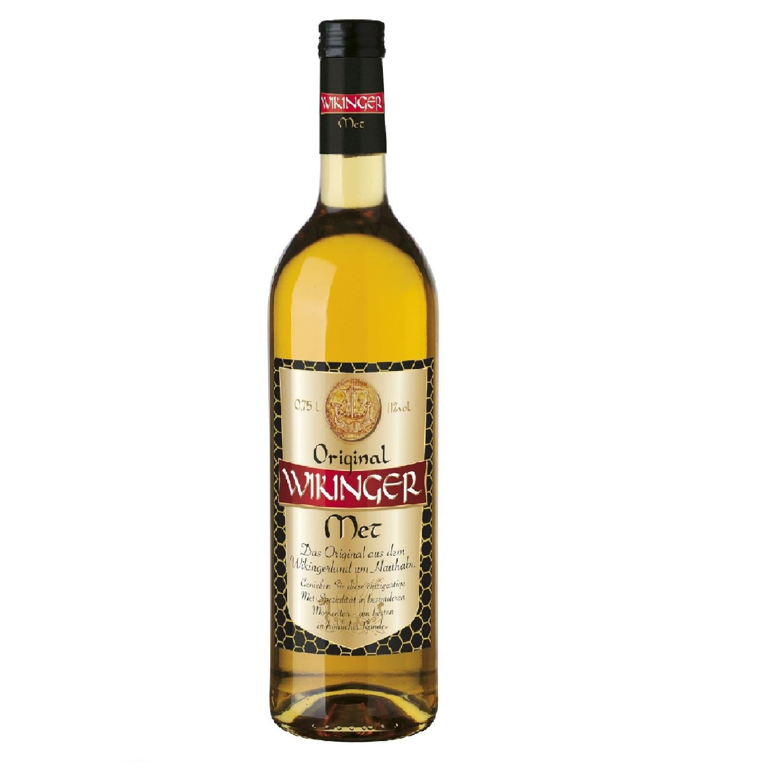 Wikinger Met Originaler Behn Honigwein 750 ml Flasche 11% Alkohol