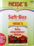 Schwarzer Johannisbeersaft Heide Saft-Box 5 Liter Bag-in-Box