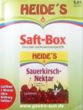 Sauerkirsch-Nektar Heide Saft-Box 5 Liter Bag-in-Box