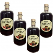 Rumtopf 4 Apothekerflaschen je 1 Ltr. 10% vol.