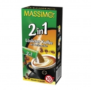MASSIMO 2in1 Kaffee mit Kaffeeweißer 160 Sticks á 14g