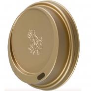100 Dallmayr Deckel für Hartpappbecher Ø90mm Gold 0,3l/0,4l