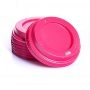 100 Deckel Pink für Coffee to go Hartpappbecher 0,2l Ø80mm