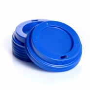 100 Deckel Coffee to go 0,2 l blau für Pappbecher Ø80mm