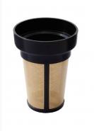 1 Teesieb für Tee oder Kaffee Gold mit Plastik