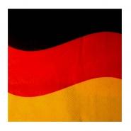 Servietten 2-lagig 33x33cm Deutschlandfahne 12 Stk. 1/4 Falz