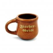 Fischergeist Keramikkrug 2 cl Tonbecher mit Henkel